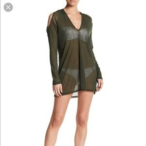 NWOT Robin Piccone Hooded Mesh Cover-Up Sz M